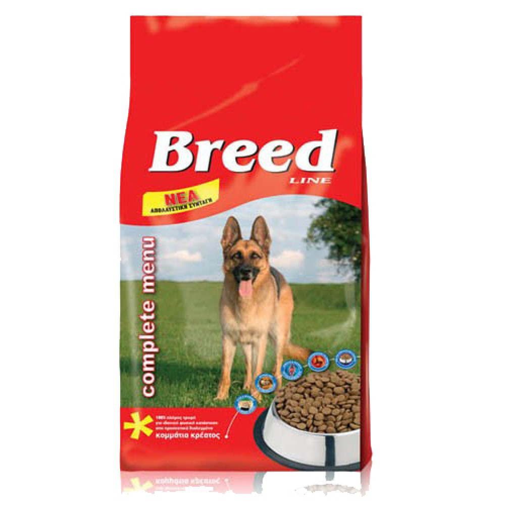 BREED LINE ADULT DOG 20KG ΜΕ ΚΟΜΜΑΤΙΑ ΚΡΕΑΣ